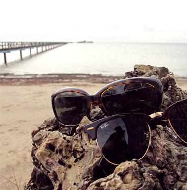 Ray Ban solglasögon vid Långa bryggan i Bjärred